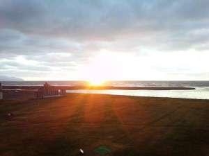 ゆったりかん:日本海に沈む夕陽