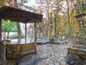 湖畔の宿 ホテル湖城閣:◆混浴露天風呂/1日30万リットルの湯量が湧き出る、源泉かけ流しの温泉が自慢です。