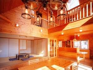 ネオオリエンタルリゾート八ヶ岳高原コテージ:ホテルの客室より広いのがコテージの特徴!おいしい空気も満喫してください♪