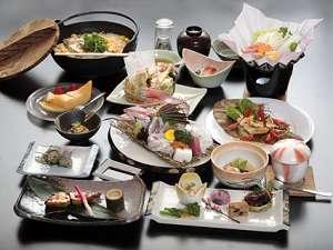 滝原温泉ほたるの湯:ちょっと贅沢なメニューがつまった 松会席 (夕食一例)