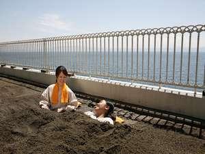 指宿シーサイドホテル:【砂むし温泉】 館内に砂むし温泉がございます。潮騒を聞きながらお楽しみ下さい