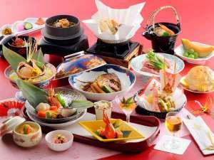 【和食会席/福寿の宴】鯛の兜煮や赤飯など、お祝いに華を添えるお祝い会席膳 ※献立イメージ