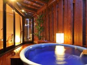 フォレストリゾート ホテル城山:[211香橙・客室露天]信楽焼の浴槽に湯河原の温泉を湛えて…日がな一日中お好きな時間に温泉三昧♪