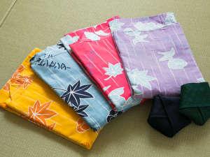 フォレストリゾート ホテル城山:浴衣はお好きな色をお選び下さい。