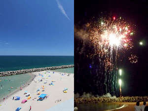 「公式」海水浴場目の前。夏の夜は打ち上げ花火の一等地♪