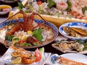 味覚の宿 定洋(ていよう):お料理の一例です。海の幸たっぷりの豪快会席♪お腹いっぱいご堪能くださいませ。