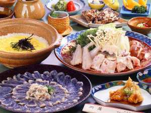 味覚の宿 定洋(ていよう):冬の魅力は…ふぐ!ふぐのコースを贅沢に♪雑炊で最後の最後まで味わいつくす!