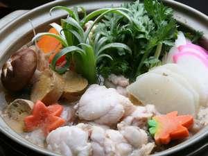 雨情の宿 新つた:冬の常磐名物あんこう鍋