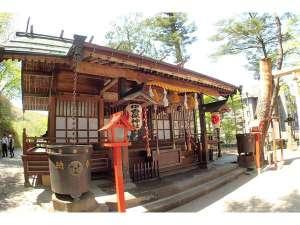 伊香保温泉 ホテル金太夫:伊香保神社はホテルから徒歩4分です。