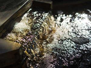 深谷温泉 元湯石屋:【温泉】琥珀色した湯の色と、滑らかな湯触りが特徴