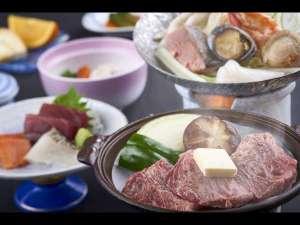 グリーンピア大沼:陶板焼きと海鮮鍋