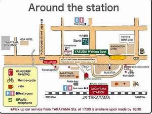 高山駅前地図 送迎場所入り