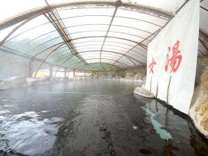 湯の瀬温泉 湯の瀬旅館:毎分800リットル幅15メートル奥行23メートル圧倒のスケール源泉かけ流し