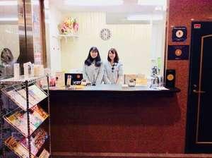 大阪えびすホテル:【館内】1Fフロント/24時間スタッフ常駐