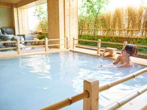 下呂温泉 和みの畳風呂物語の宿 小川屋:新規オープン 女性露天風呂
