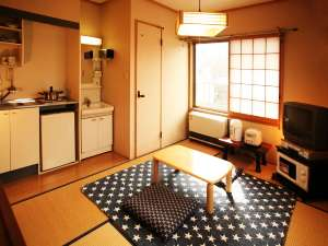 ワンディ美津木:【通常タイプ】ミニキッチンや調理具が揃う通常タイプの和室6畳