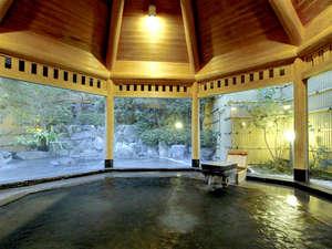 白浜温泉 湯処むろべ:【大浴場】とろみのある美肌の湯≪甘露の湯≫を源泉かけ流しでお愉しみ下さい。