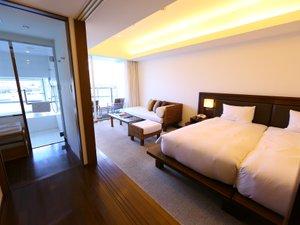 ホテルマリノアリゾート福岡:42平米&バルコニー付マリノアツイン 海を眺めながらゆったりバスタイムも♪