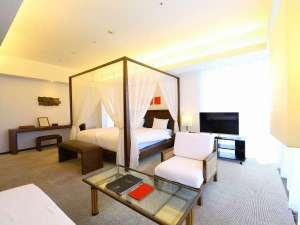 ホテルマリノアリゾート福岡:55平米&天蓋付ベッドのあるバルコニー付デラックスツイン最高のリゾート気分を♪
