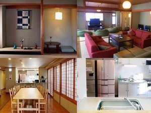 カオサン京都ゲストハウス:共用リビング、ダイニング、キッチンは、広々と快適にご利用いただけます。