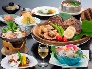 瀬戸内の水軍浪漫をたどる宿 汐の丸:瀬戸内海の旬の食材を使用したスタンダード会席料理「磯花の膳」