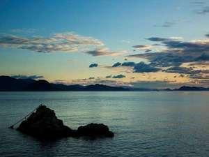 夕景の宿海のゆりかご萩小町
