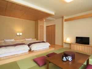 入鹿温泉ホテル瀞流荘 :新館:ゆったりくつろげる和洋室