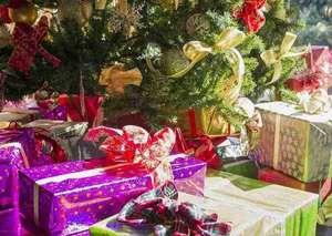 箱根小涌園 天悠:12月になるとクリスマスツリーに下にはサンタさんからのプレゼント