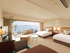 神戸メリケンパークオリエンタルホテル:・アウトドアリビングプレミアオーシャンツイン7階