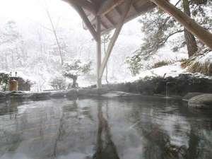 板室温泉 大黒屋:【露天の湯】雪見風呂