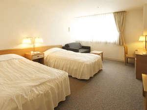ホテル メルパルク広島:【24平米】スタンダードツイン3名利用可(3名時ソファーベッド)