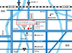 ホテル メルパルク広島:MAP
