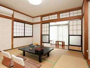 宇宙と地中から元気をもらう宿 七沢荘(日本の名湯百選):*2010年11月にリニューアルしたばかりのお部屋はとっても綺麗!<本館8畳和室>