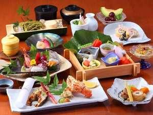 宇宙と地中から元気をもらう宿 七沢荘(日本の名湯百選):*会席料理【紅葉】は、魚や野菜など旬の食材を使用したお料理をお届けします。