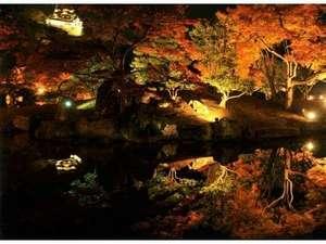 彦根グランドデュークホテル:≪彦根城域の玄宮園『錦秋のライトアップ』≫11月の紅葉のイベント。