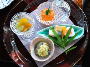 鎌倉パークホテル:特選懐石料理 前菜一例