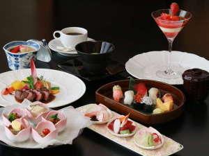 鎌倉パークホテル:鎌倉和洋コース 前菜/スープ/造り/煮物/肉料理/食事/デザートの全7品!