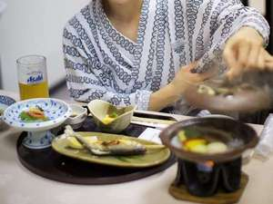 大沢温泉菊水舘 南部藩かやぶき 千二百年の湯めぐり:夕食 イメージ