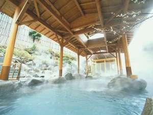 箱根の森 おかだ:星空を望む男性用露天風呂