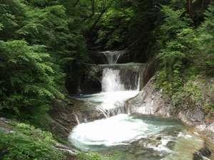 リゾートハウス鶏冠荘:神秘的なエメラルドグリーンの七ツ釜五段の滝は必見☆