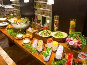 【朝食】有機・無農薬野菜のサラダバー