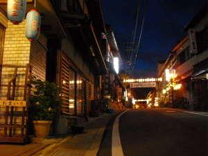 旅館 奥村宗助(大峯山 洞川温泉):夜の温泉街