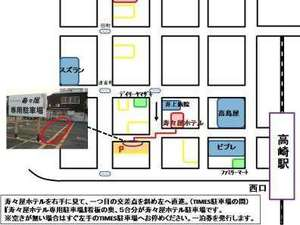 ビジネスホテル寿々屋:専用駐車場案内図