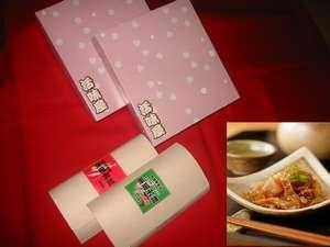 弘前東栄ホテル:青森の新しいお土産として定評のある、ホタテの佃煮(醤油味とピリ辛味】