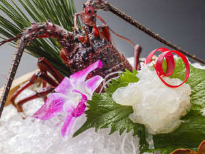 休暇村 南伊豆:伊勢海老活造り[別注料理]プリプリの食感と甘みをお楽しみください。
