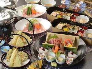 塩原温泉 ホテルニューもみぢ:夕食は専用会場にて季節の和食膳をご用意