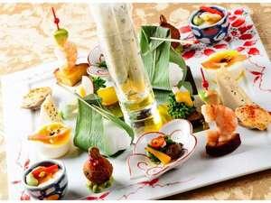 ホテルマイユクール祥月:祥月オリジナルのフルコースディナーは和食ベースの創作料理(料理一例)