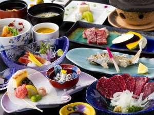 旅館湯本荘:スタンダードプランの御夕食。