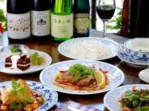 ペンションマリオネット:オナー自慢の欧風コース料理。野菜たっぷりのヘルシーコースと美味しいワインはいかがですか?