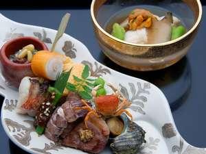 懐石宿 扇屋:『前菜と長芋素麺』
